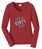 RLCVIII 'Raised on Vinyl' Long Sleeve Tee (Ladies)